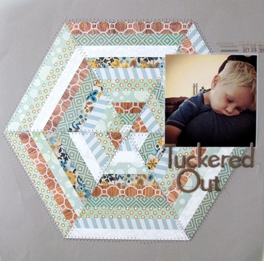 Tuckered Out by Jules Hollis ecoscrapbooking ebook